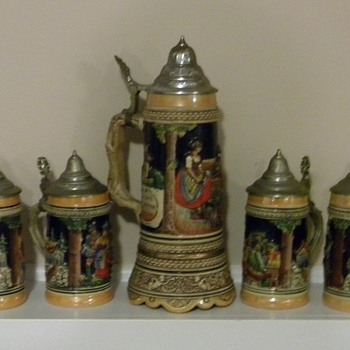German Stein Set - Breweriana