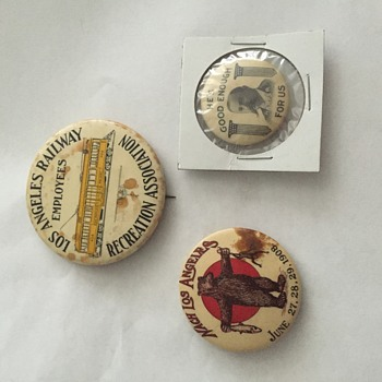 Antique Political Employee and Advertising Pinbacks - Medals Pins and Badges