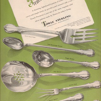 1950 Towle Sterling Advertisement - Fr. Provincial  - Advertising