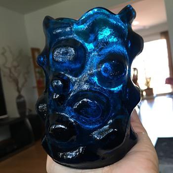 Blue glass vase - Art Glass