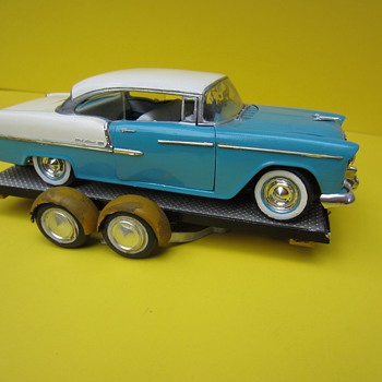 Vintage built 1955 Chevy and early 60s trailer  - Model Cars