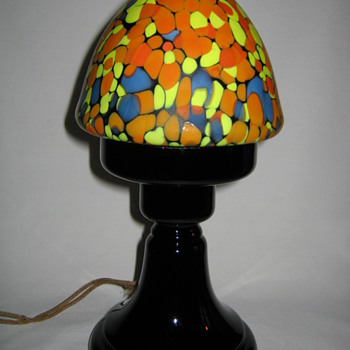 Czechoslovakia art glass Boudoir Lamp 1920's 1930's Ruckl production Satin finished Shade - Art Glass