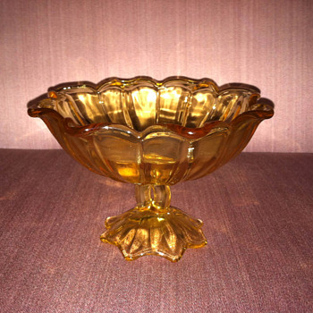 Gold candy dish