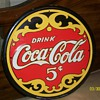 Antique Vintage 5cent Coca-Cola Sign 