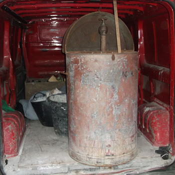 old lamp oil drum
