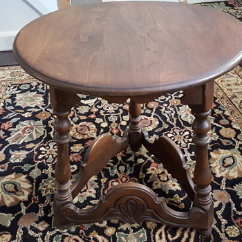 Leavens Lamp Table Victorian Made in Boston - Furniture