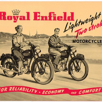 "1953 - ""Royal Enfield"" Motorcycles Brochure"