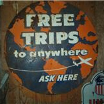 Free Trip to Anywheres  from Union Oil CO  40's or 50's - Petroliana