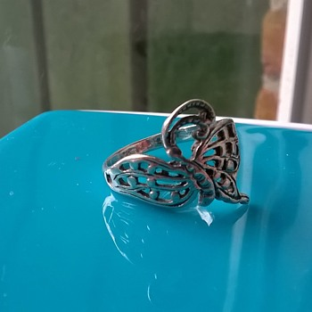 Butterfly (Dragonfly?) Sterling Ring  - Fine Jewelry