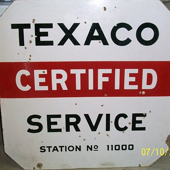 Double Sided Porcelain Texaco - Signs