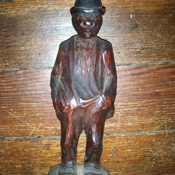 carved black man? - Folk Art