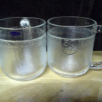 Nuutajarvi beer mugs - Art Glass