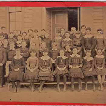 3 photos on boards Young Children school pictures Salem Ma.