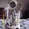 Lux Porcelain Statue Clock
