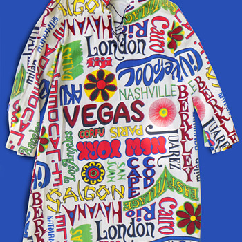 1960's Hippie Era Vacation Destination Tunic / Robe - Womens Clothing