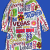 1960's Hippie Era Vacation Destination Tunic / Robe