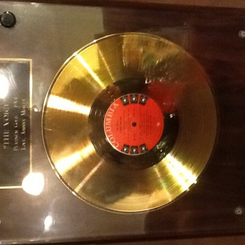 "Frank Sinatra platinum gold award 1961 ""THE VOICE """