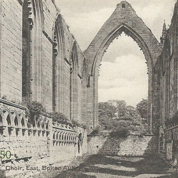BOLTON ABBEY - CHOIR EAST c.1900 - Postcards