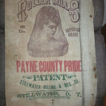 1897-1903 OKLAHOMA TERRITORY flour sacks - Rugs and Textiles