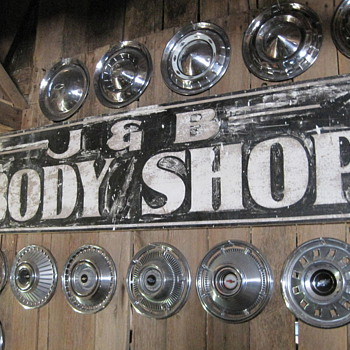 J&B chevrolet body shop sign