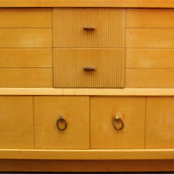 The most gorgeous midcentury dresser and chest I just found. Would love to learn  more info from collector community!