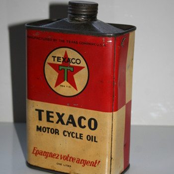 texaco motorcycle oil can - Petroliana