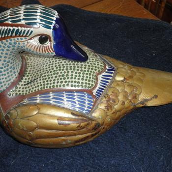 Brass & cloissone Duck