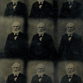 Rare Uncut Tintypes of Husband &amp; Wife