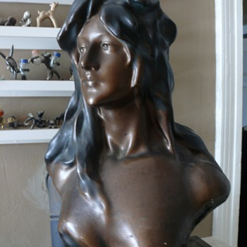 french female bust - Art Nouveau