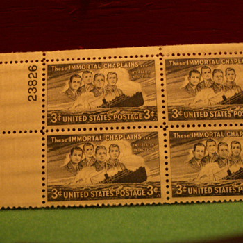 1948 These Immortal Chaplains 3¢ Stamps - Stamps