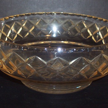 rare Stuart iridised cut crystal bowl