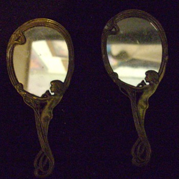 Small Art Nouveau mirrors.
