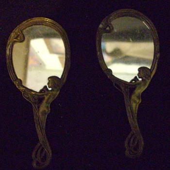 Small Art Nouveau mirrors. - Art Nouveau