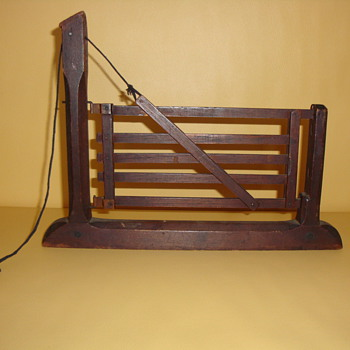 1869 PATENT MODEL TILTING GATE