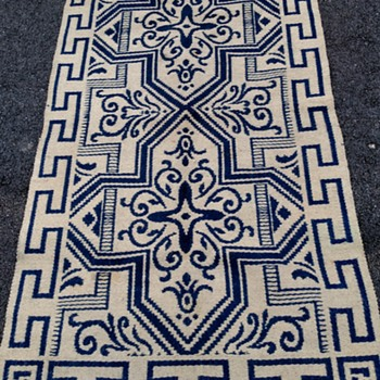 Vintage Rug Two Sided Color handnade