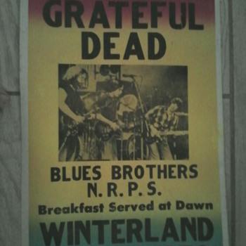 Grateful Dead 1978 Winterland concert poster.