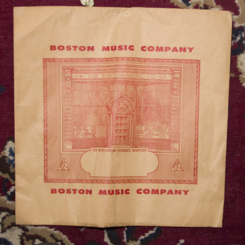 Boston Music Company posssibly Record holder package - Music