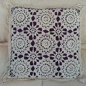 Decorative Crocheted Throw Pillow - Rugs and Textiles
