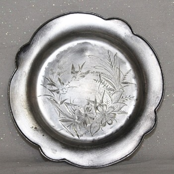 "QUADRUPLE ROCKFORD SILVER P. CO 7"" PLATE, DISH - Sterling Silver"