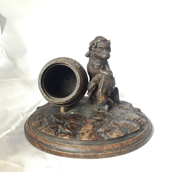 Bear and Barrel Tobacco Holder - Tobacciana