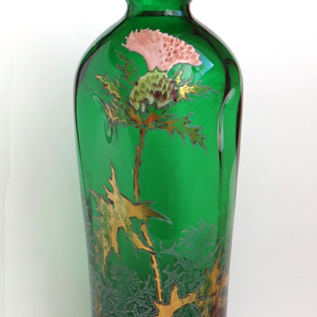 Legras Pinched Thistle Vase - 'Vase Burgos'  - Art Glass