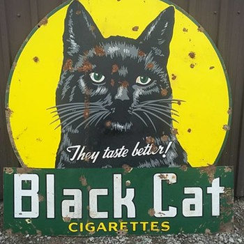 Black Cat Cigarette Sign