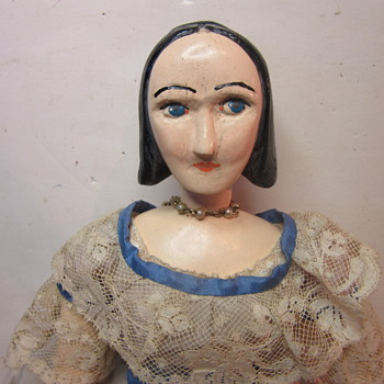wood carved doll - Dolls