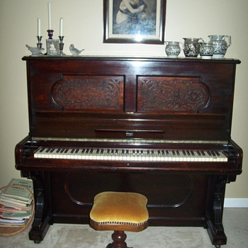 1889 Antique Steinway upright - Furniture