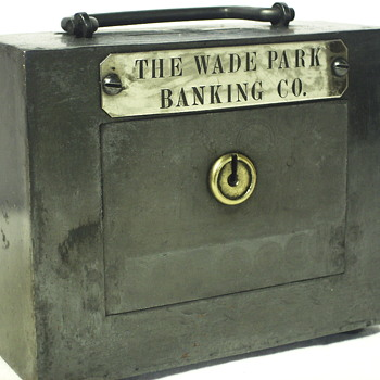 "Promotional Steel Bank""The Wade Park Banking Co""Cleveland,Ohio - Coin Operated"