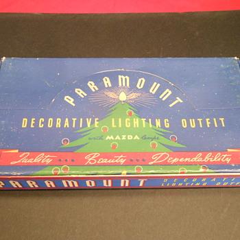 Vintage Mazda Paramount Xmas Lights - Christmas