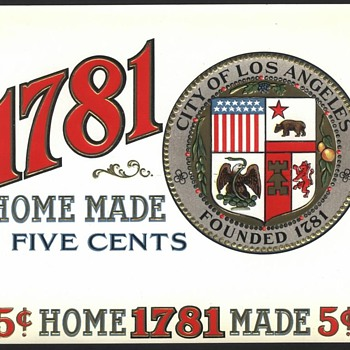 City Of Los Angeles Cigar Box Label - Tobacciana