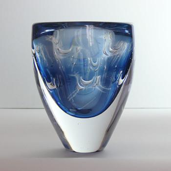 Ingeborg Lundin, Ariel vase with horses (Orrefors, ca. 1959) - Art Glass