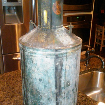 5 gallon Wm Neil co. gas fluid measure before clean-up - Petroliana