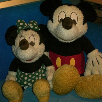 Large Disney Mickey and Mini Mouse Dolls